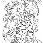 Раскраска для мальчиков супергерои «Марвел» Логан Росомаха, чтобы распечатать бесплатно в хорошем качестве А4