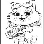 Картинка из мультфильма 44 Котенка с кошечкой Миледи, которую можно бесплатно распечатать и раскрасить с детьми