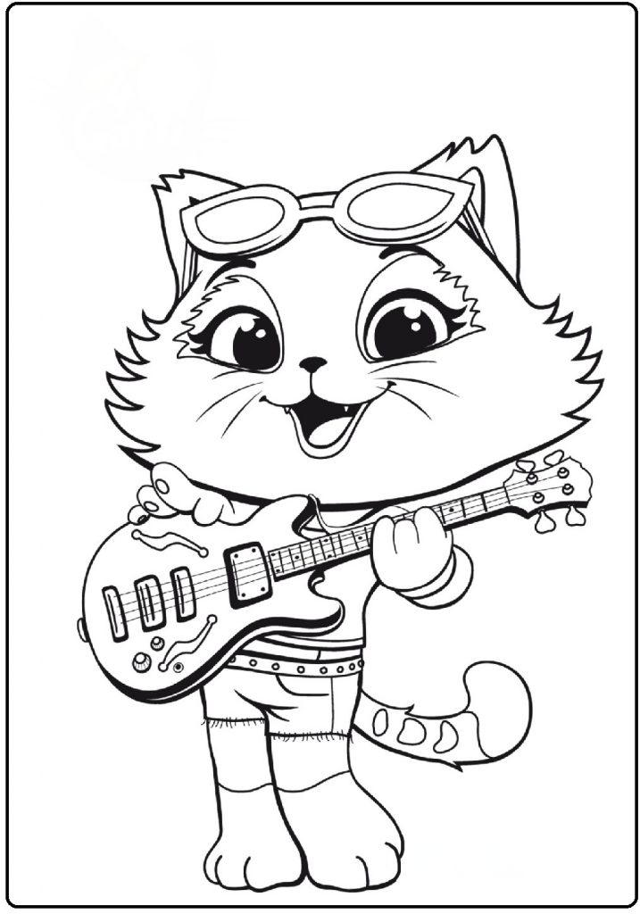44 Котенка Миледи - 44 Котенка - Раскраски антистресс