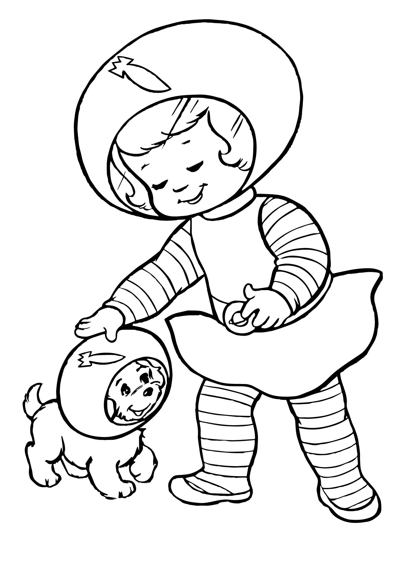 Космонавт собака - Космос - Раскраски антистресс