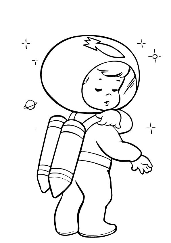 Раскраска для детей на тему «Космос», чтобы бесплатно распечатать А4