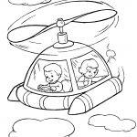 Раскраска для детей на тему «Космос» летательный аппарат, чтобы бесплатно распечатать А4