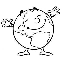 Раскраска для детей на тему «Космос» планета Земля, чтобы бесплатно распечатать А4