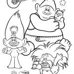 Раскраска из мультфильма «Тролли 2. Мировой тур» Trolls, чтобы бесплатно распечатать А4 для детей