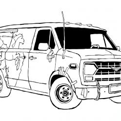 Раскраска из мультфильма «Вперед» Onward, чтобы бесплатно распечатать А4 для детей