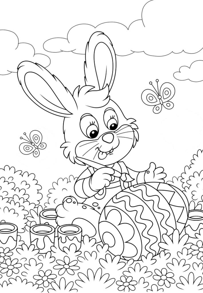 Раскраска на праздник «Пасха», чтобы распечатать в хорошем качестве А4 для детей и взрослых