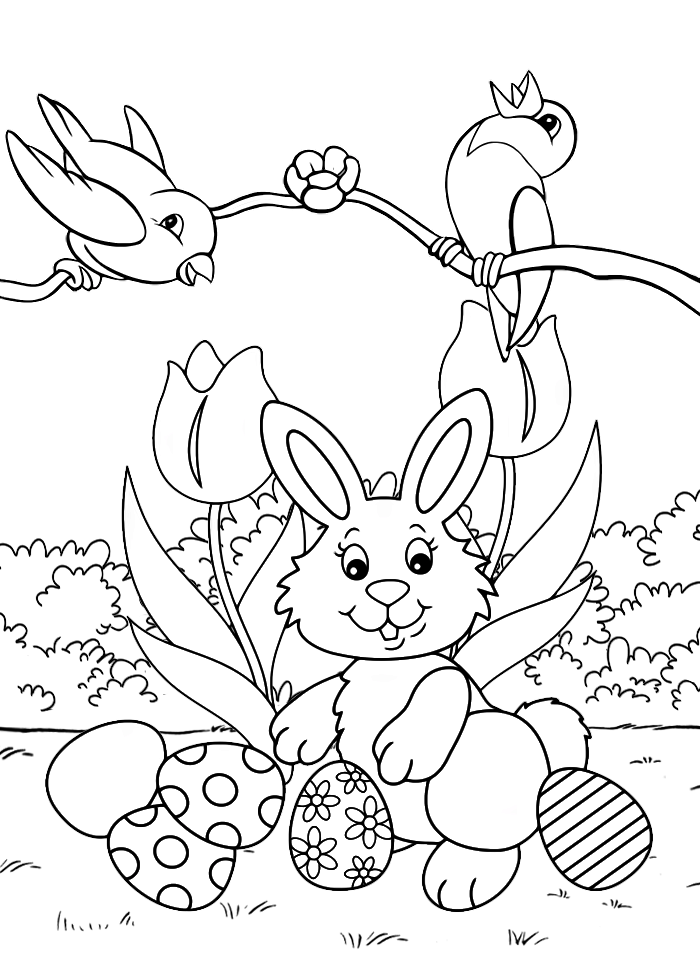 Пасха для детей - Праздники - Раскраски антистресс
