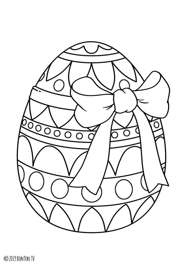 Раскраска Яйцо писанка на праздник «Пасха», чтобы распечатать в хорошем качестве А4 для детей и взрослых