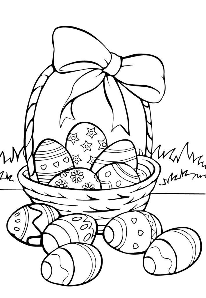 Раскраска «Пасха», чтобы распечатать в хорошем качестве А4 для детей и взрослых