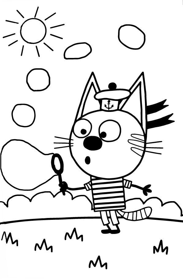 Коржик Три кота - Три кота - Раскраски антистресс