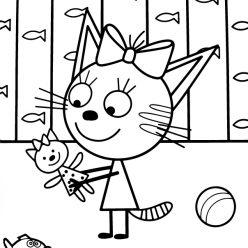 Раскраски «Три кота» - Раскраски антистресс