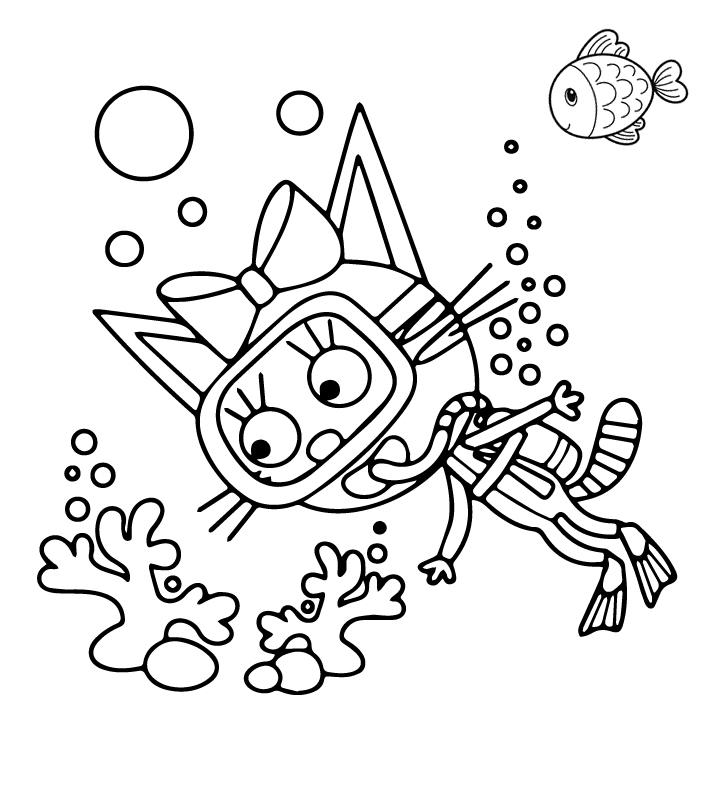 Картинка из мультфильма «Три кота» Карамелька, чтобы бесплатно распечатать А4 для детей