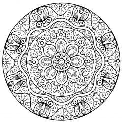 Распечатайте бесплатно картинку «Мандала» со значением опыт и раскрасьте