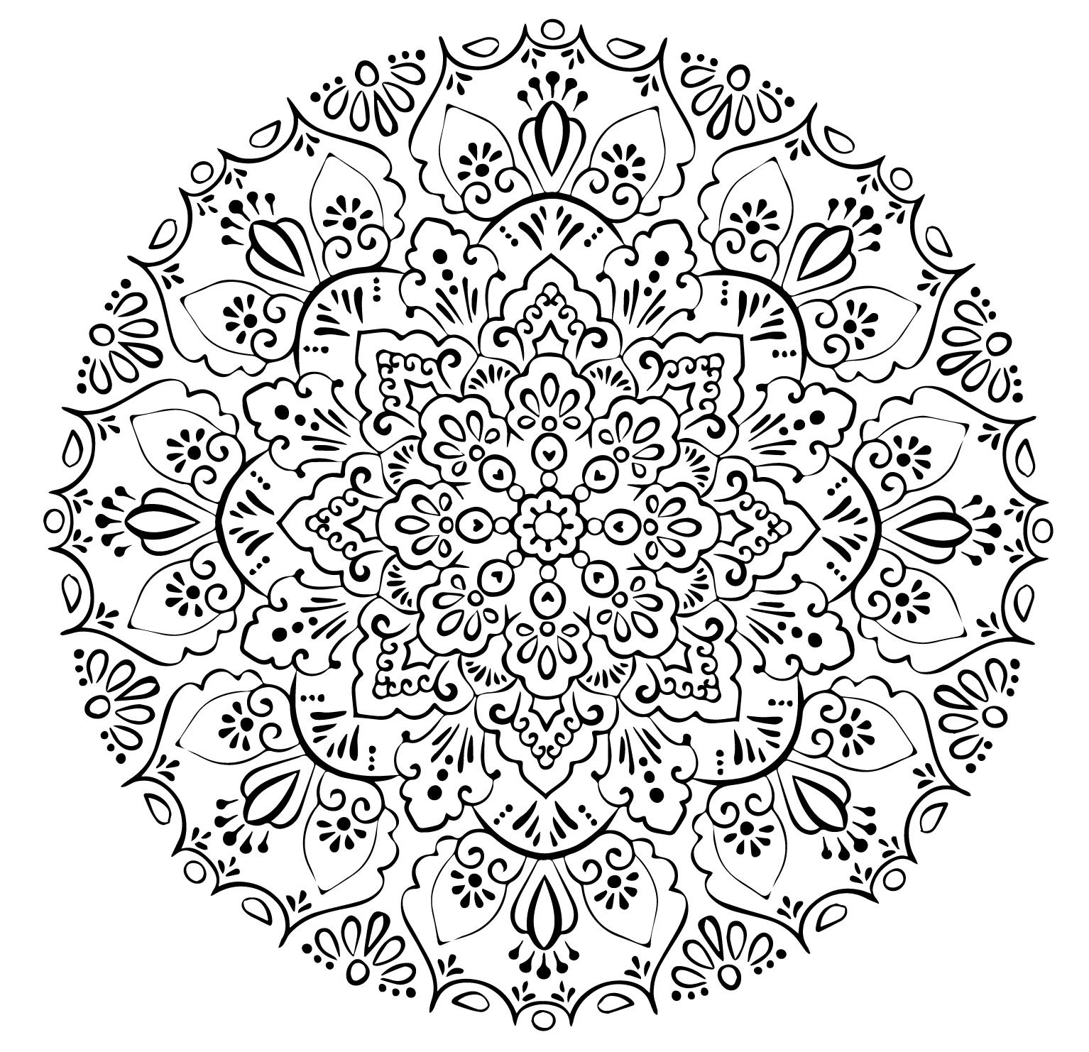 Мандала со значением - Мандала - Раскраски антистресс