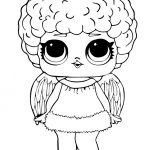 Раскраска кукла ЛОЛ снежный ангел зимняя дискотека, чтобы распечатать в хорошем качестве А4 для детей
