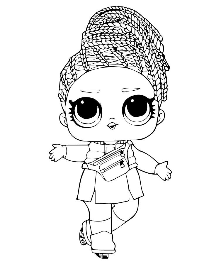 Кукла ЛОЛ с розовыми косичками - Куклы LOL - Раскраски ...