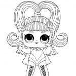 Раскраска кукла ЛОЛ со сменными париками, чтобы распечатать в хорошем качестве А4 для детей