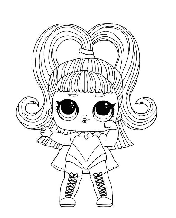 Кукла ЛОЛ со сменными париками - Куклы LOL - Раскраски ...