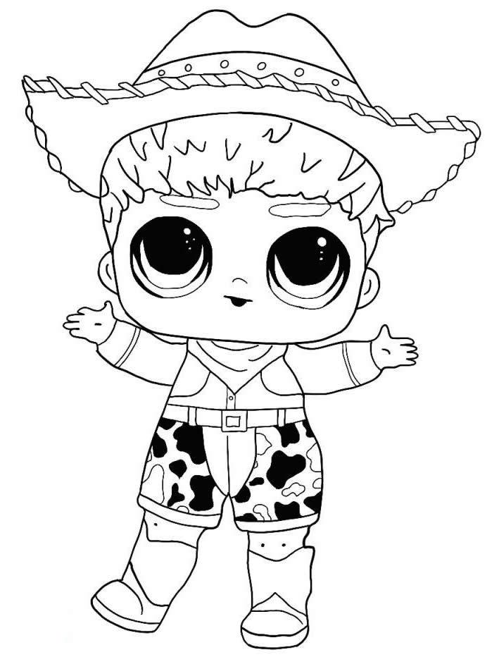 Кукла ЛОЛ мальчик - Куклы LOL - Раскраски антистресс