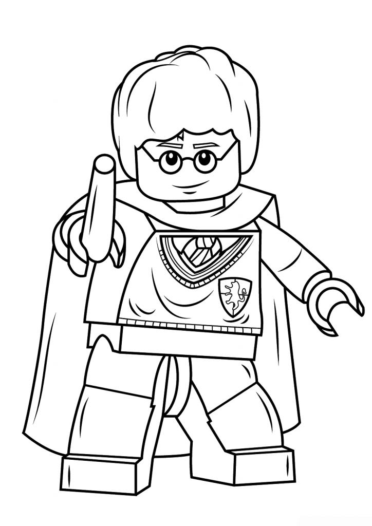 Распечатать и раскрасить картинку «Лего» Гарри Поттер, бесплатно в хорошем качестве.