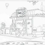 Распечатать и раскрасить картинку «Лего» Френдс Кафе, бесплатно в хорошем качестве.