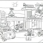 Распечатать и раскрасить картинку «Лего Полиция» бесплатно в хорошем качестве.