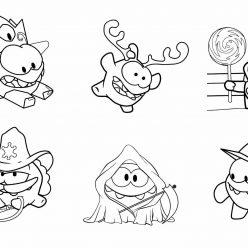 Раскраска из мультфильма приключения монстрика «Ам Ням»,чтобы бесплатно распечатать А4 для детей