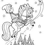 Раскраска для детей из сказки Конек Горбунок хорошего качества