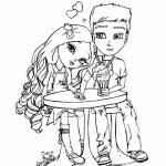 Раскраска «Пара влюбленных», чтобы распечатать в хорошем качестве А4