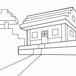 Распечатать картинку из компьютерной игры «Дом из Майнкрафт» бесплатно в хорошем качестве и раскрасьте с детьми.